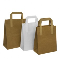 220mm White SOS Paper Carrier Bags